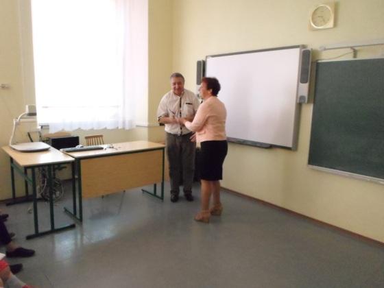 Pateicība skolotājam Jurim par skolēnu sagatavošanu un augstiem rezultātiem starpnovadu dambretes turnīrā