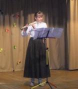 Flautu spēlē Līva Dāve (Ērgļu MMS)