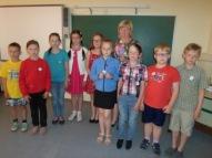 """2., 4.klase un skolotāja Ingrīda - """"Mammadaba meistarklase"""" dalībnieki"""