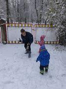 Sporta aktivitātes pirmajā sniegā! Pikojamies...