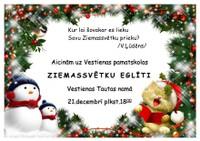 Skolas Ziemassvētku eglītes koncerts Tautas namā 21.decembrī plkst. 18:00