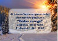 21.decembrī  - Ziemassvētku eglītes pasākums Vestienas Tautas namā