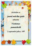 Jaunā mācību gada sākums Vestienas pamatskolā 2.septembrī plkst. 10:00