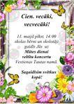 11.maijā - Mātes dienas koncerts Vestienas Tautas namā
